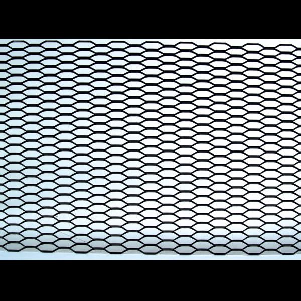 grille universelle en aluminium 48 x8 noire nid d abeille. Black Bedroom Furniture Sets. Home Design Ideas