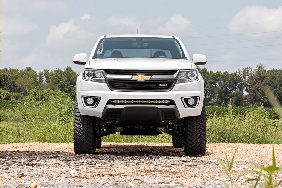 Lifted Chevy Colorado >> 5 00 Suspension Lift Kit Chevrolet Gmc Canyon Colorado 2015 17 4wd Moeteur Gaz Numero 233 20 Rough Country
