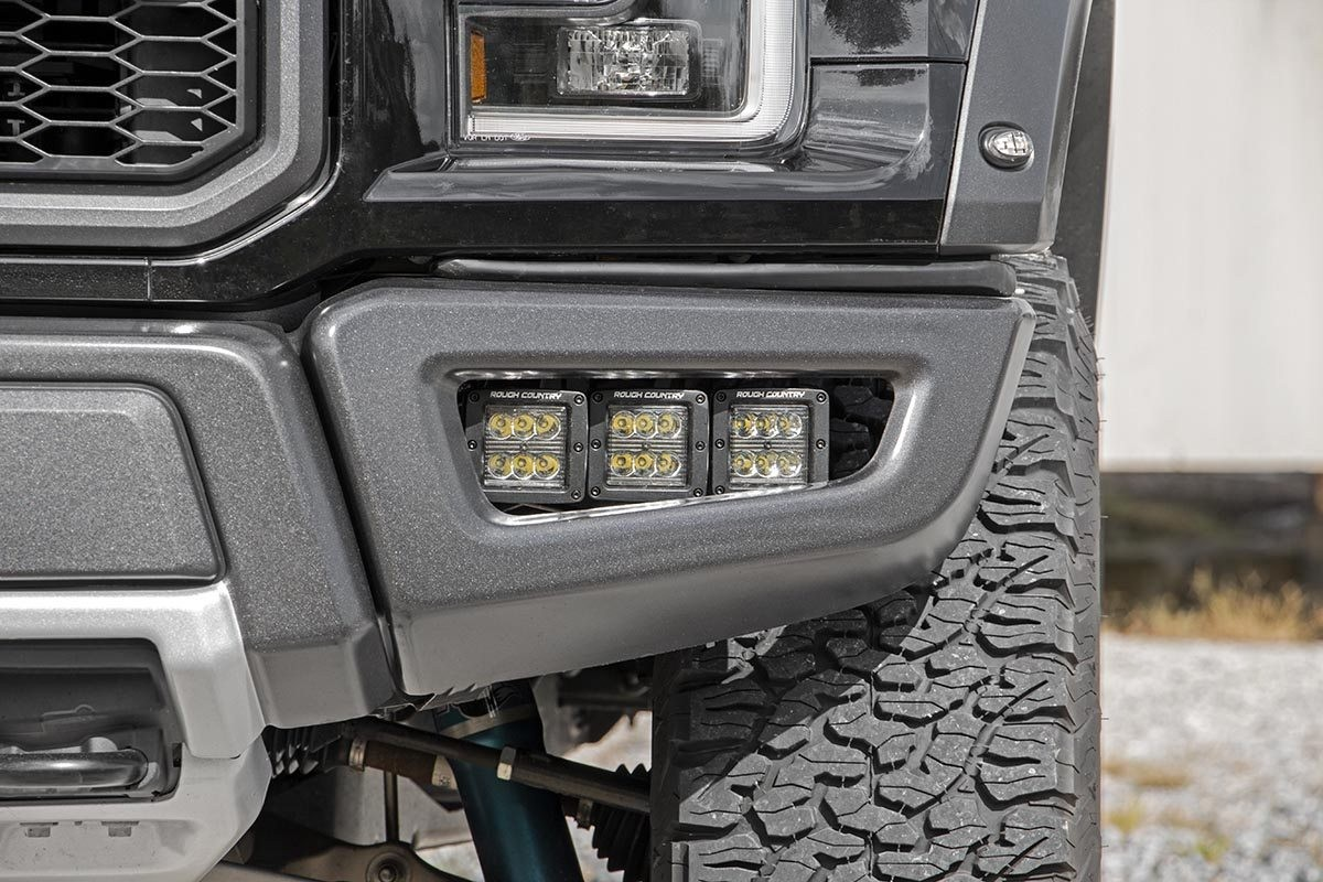 TRIPLE LED FOG LIGHT KIT FORD F150 RAPTOR 2017 A 2018 ...